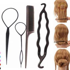 Bộ 4 dụng cụ làm búi tóc
